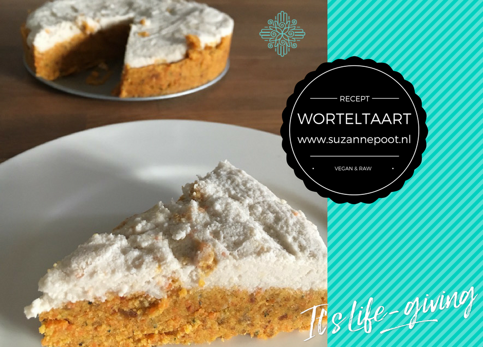 Worteltaart – vegan & raw